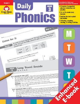 Daily Phonics, Grade 3, Teacher's Edition, E-book