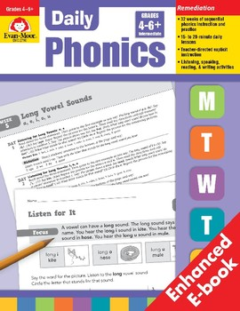 Daily Phonics, Grades 4-6, Teacher's Edition, E-book