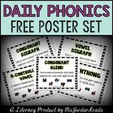 FREE Daily Phonics Poster Set