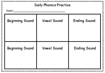 Daily Phonics Practice: Beginning, Middle, and Ending Sounds