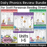 Daily Phonics Review Bundle Units 1-5