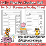 Daily Phonics Review (Correlated to Reading Street for 1st Grade Unit 1) Spiral