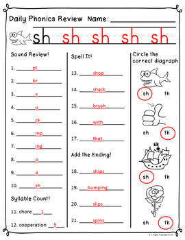 Daily Phonics Review (Correlated to Reading Street for 1st Grade Unit 2)
