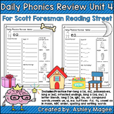 Daily Phonics Review (Correlated to Reading Street for 1st Grade Unit 4)