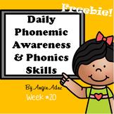 Daily Phonics Skills Week #20