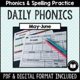 """Daily Phonics"" Word Work (May - June)"