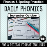"""Daily Phonics"" Word Work (September - October)"
