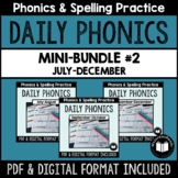 """Daily Phonics"" Word Work Mini-Bundle #2 (July - December)"