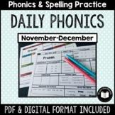 """Daily Phonics"" Word Work (November - December)"