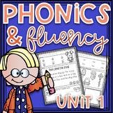 Phonics Worksheets and Phonics Based Fluency~ Unit 1 Dista