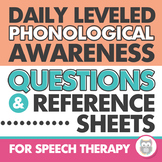 Daily Phonological Awareness Questions and Reference Lists