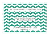 Daily Physical Therapist Documentation - Landscape
