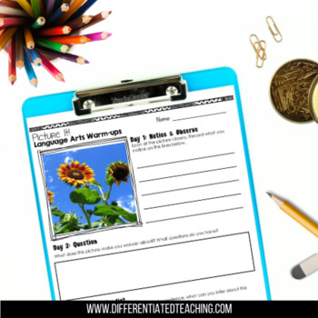 Read & Write Photo Prompt Bundle: Picture of the Week Comprehension Activities
