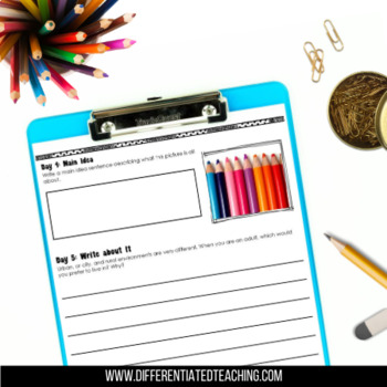 Language Arts Morning Work for Grades 2-3: Picture Prompts {Vol. 2}