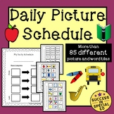 Daily Picture Schedule Students with Autism and Special Needs Distance Learning