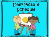 Daily Picture Schedule for Students with Autism and other Special Needs