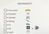 Daily Picture Schedule for special ed.