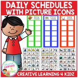 Daily Schedules w/ Picture Icons Special Education Autism PECS PCS