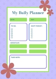 Daily Plan and Schedule