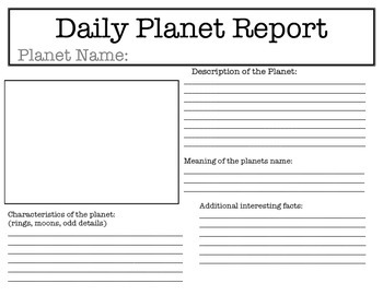 Daily Planet Report