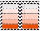 Daily Planner - Chevron Print with Orange Ombre