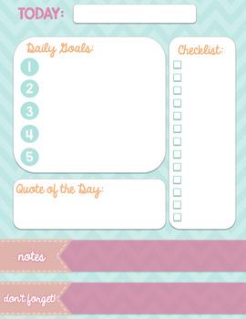 Daily Planner {FREEBIE}