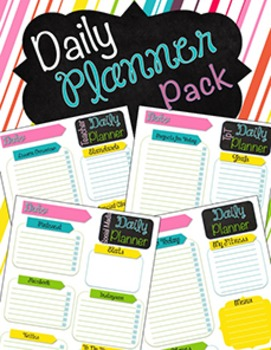 Daily Planner Pack {Seller Resources Mini Pack} EDITABLE