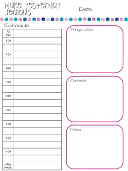 picture regarding Daily Planner Page called Every day Planner Web page