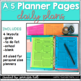 Daily Planner Pages {A5 size}