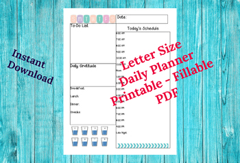 graphic relating to Daily Planner Printable identify Day-to-day Planner Printable Planner PDF Every day Program Working day Calendar *Reward Web page Tabs