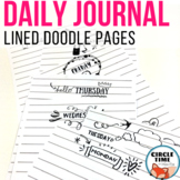 Daily Journaling Pages, Notebook Paper Templates with Days