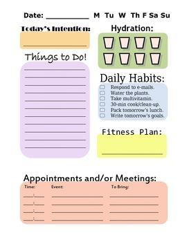 Daily Planner / Teacher Organizer