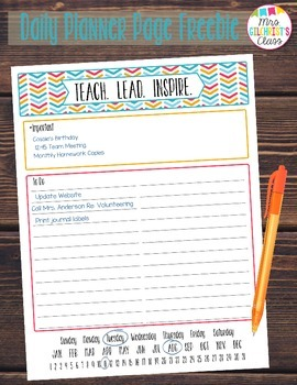 Daily Planner Page - To Do List FREEBIE