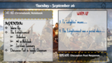 Daily Planner and Agenda Slides [Unit Overviews, Calendars