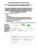 Daily Lesson Planner and Curriculum Map