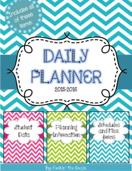 Teacher Planner and Data Organizer**Editable**