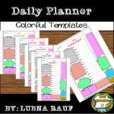 Daily Planner colorful Templates(The House of Education)
