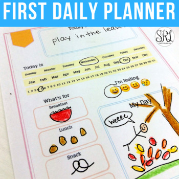 Daily Planner for Kids: Printable Calendar in Pastel Colors