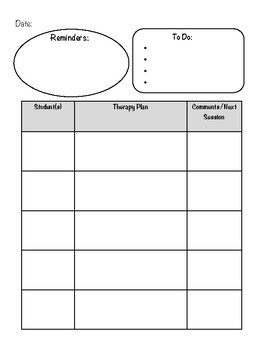 Daily Planner for SLPs