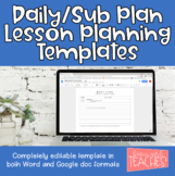 Editable Daily Lesson Planning Template