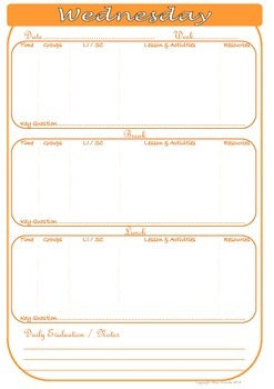 Daily Planning Template