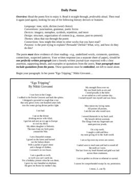 Daily Poem/Poet: Nikki Giovanni
