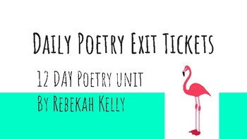 Daily Poetry Exit Tickets