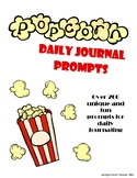 Daily Popcorn Themed Journal Prompts FOR THE WHOLE YEAR!