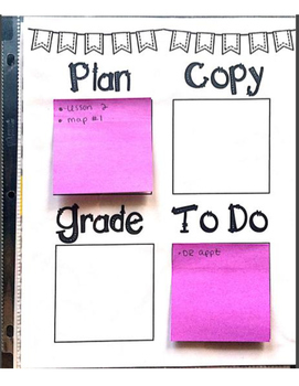 Daily Post-it To Do Organizer