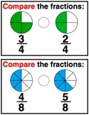 Comparing Fractions Practice Cards