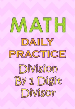 100 Q Daily Practice Division (morning activity,warm up, test prep, drill) Free