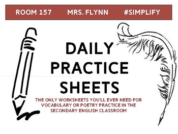Daily Practice--Vocabulary or Poetry