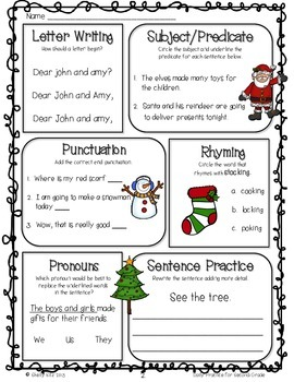 Common Core Math and Language Arts Daily Practice for Second Grade (December)