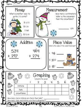 Common Core Math and Language Arts Daily Practice for Second Grade (January)
